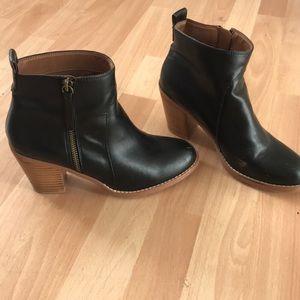 {Loft} Black Ankle Boots